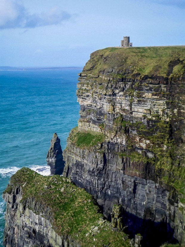 O'Brien's Tower in Ireland on top of the cliffs