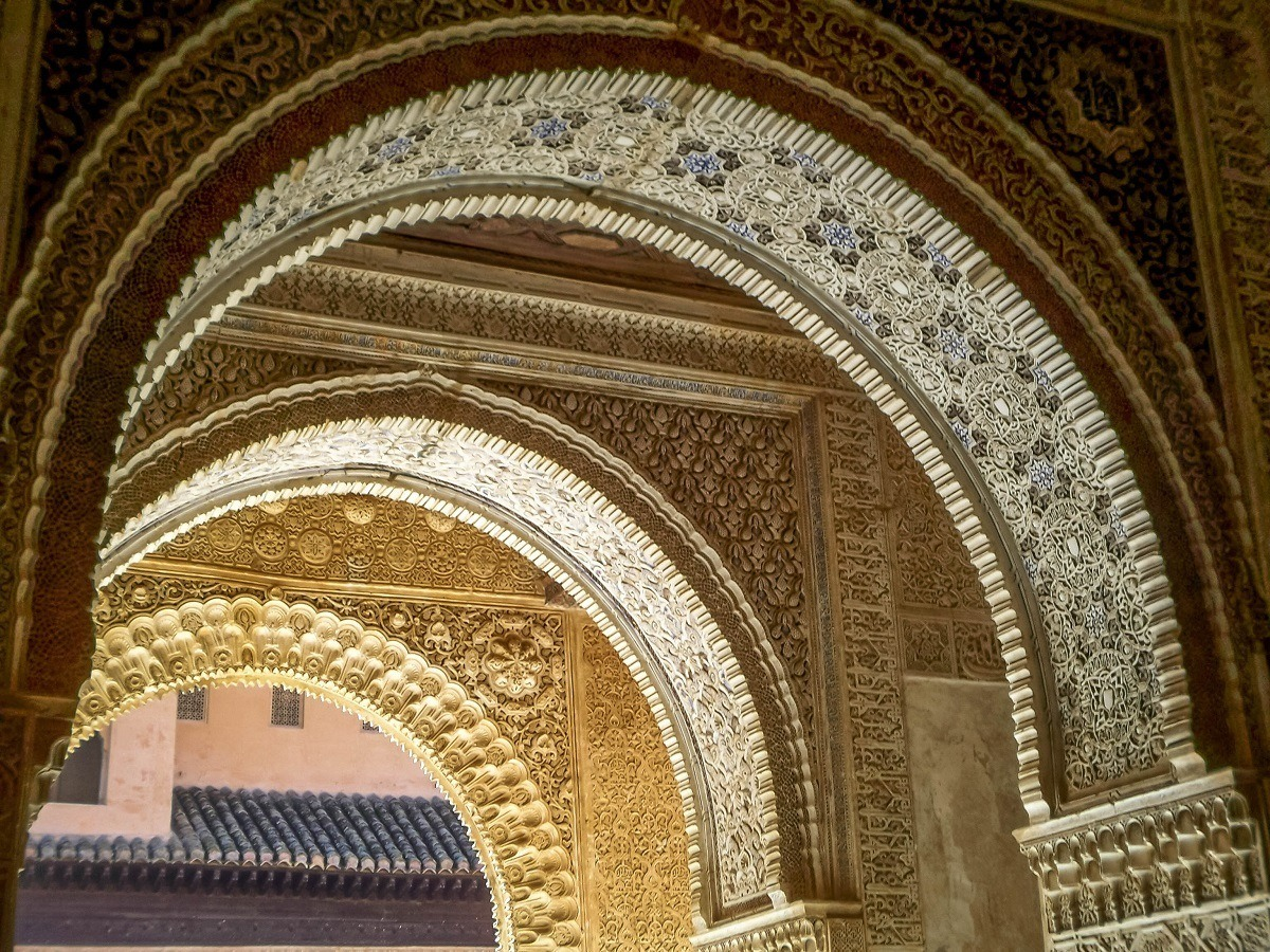 Parallel arches inside the Alhambra