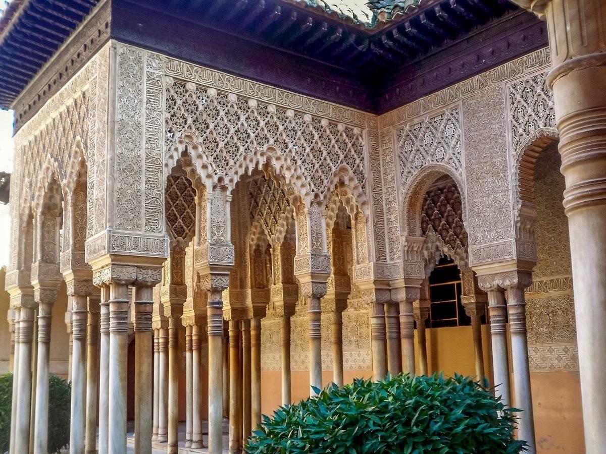 Moorish columns in Granada
