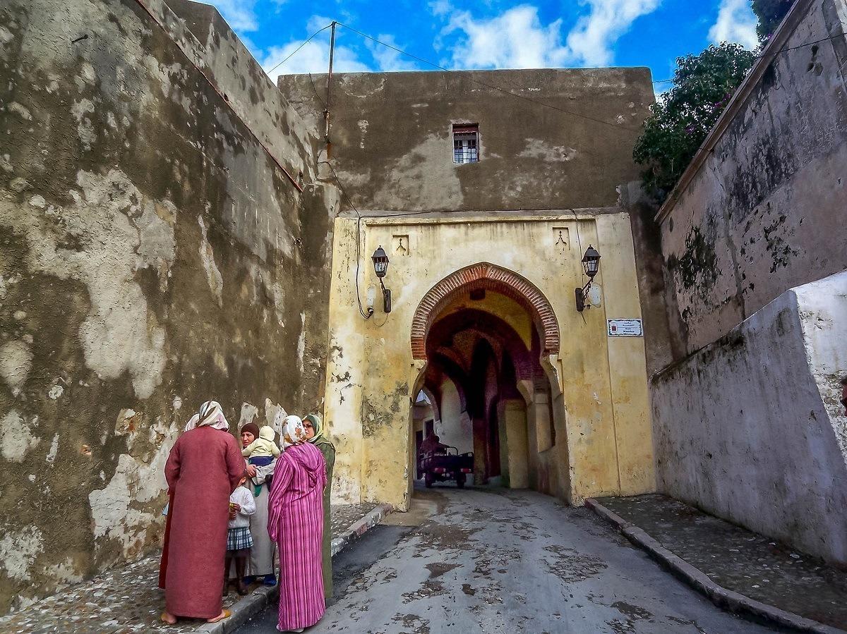 Women in the medina of Tangier, Morocco