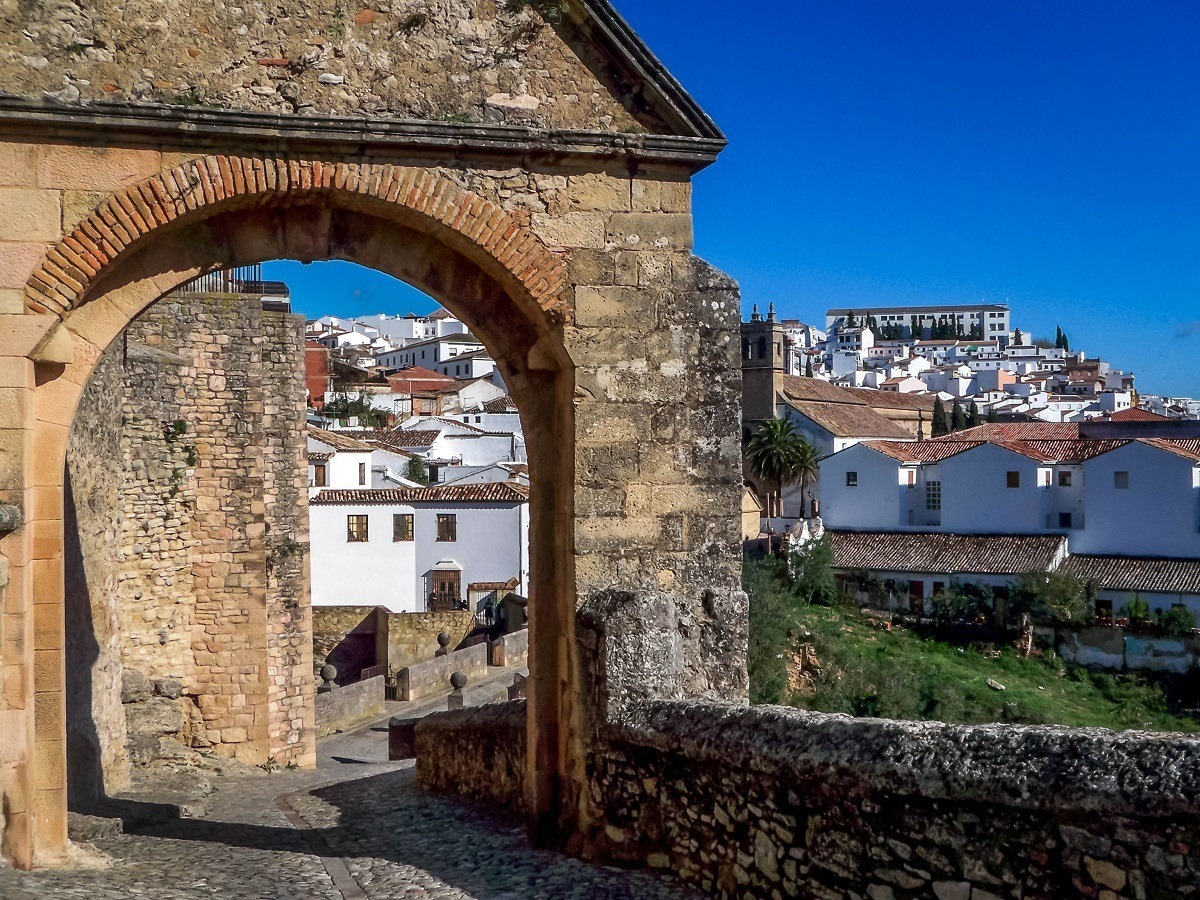 Gate in one of the the White Hill Towns of Andalusia, Spain