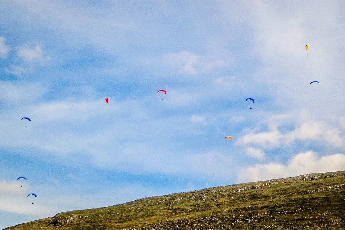 Parasailing over Andalusia