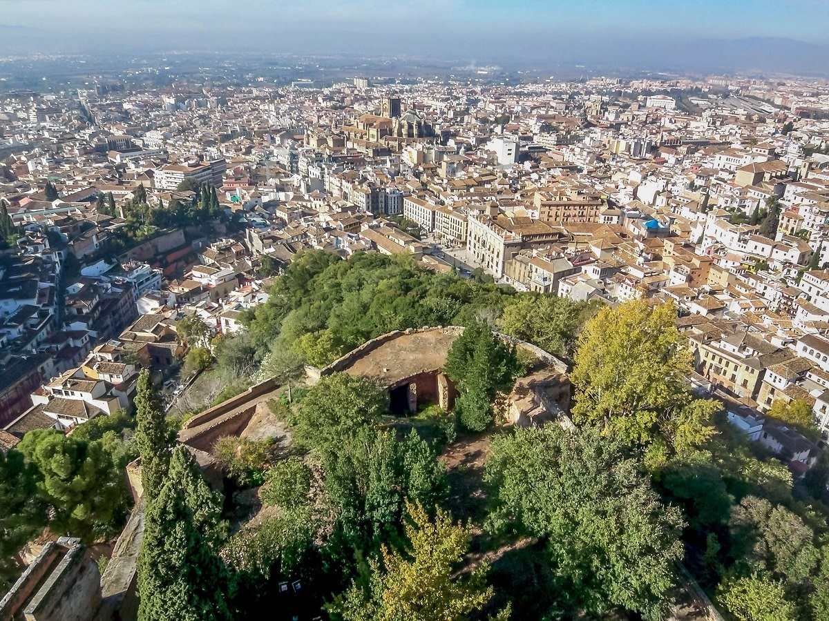 View of Granada, Spain from above