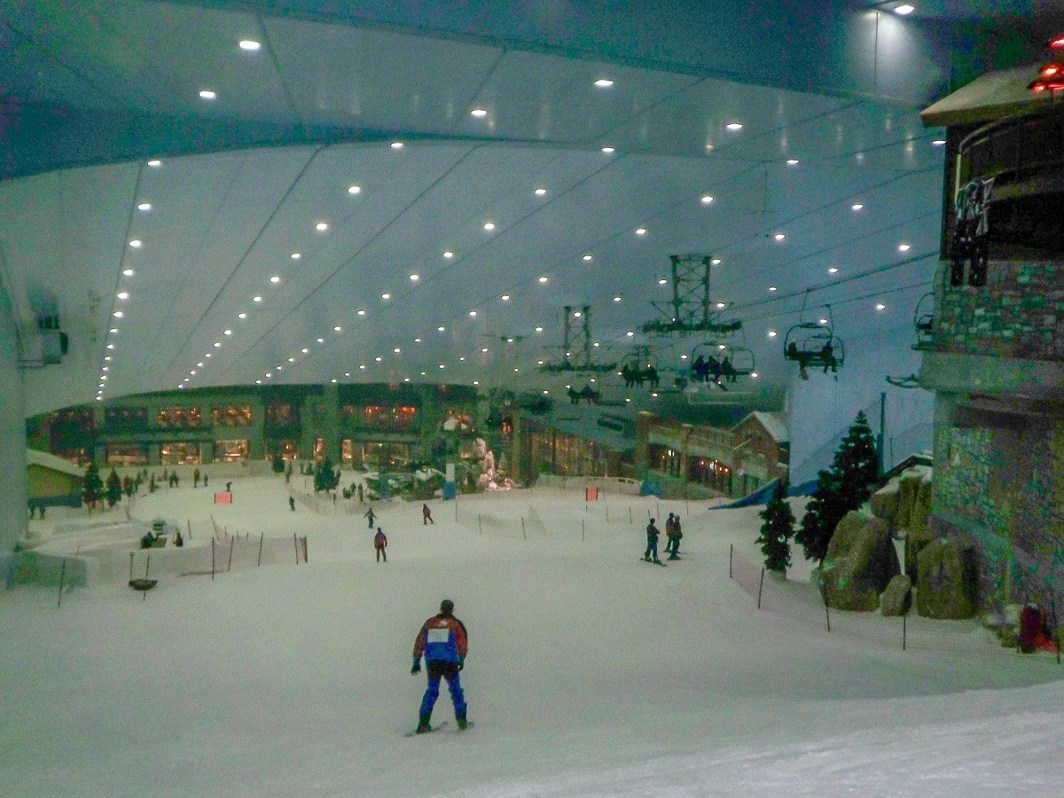 Inside Ski Dubai at the Mall of the Emirates
