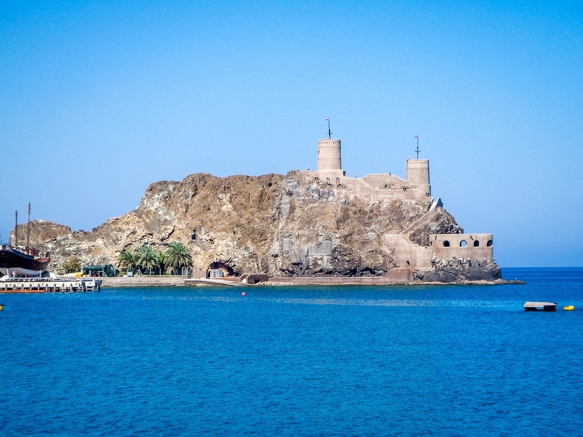 The Al Mirani Fort guarding the Muttrah harbor in Muscat