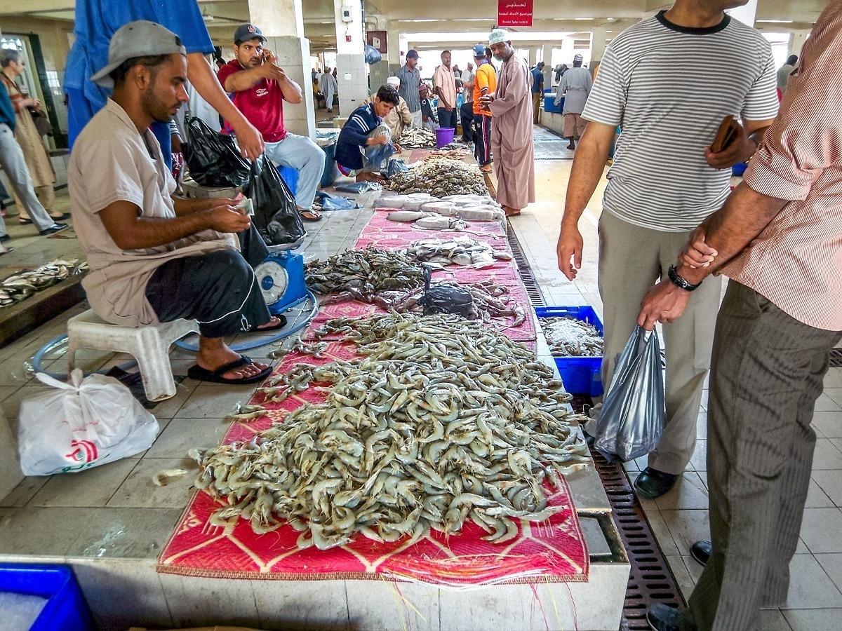 The Muttrah Fish Market Muscat Oman