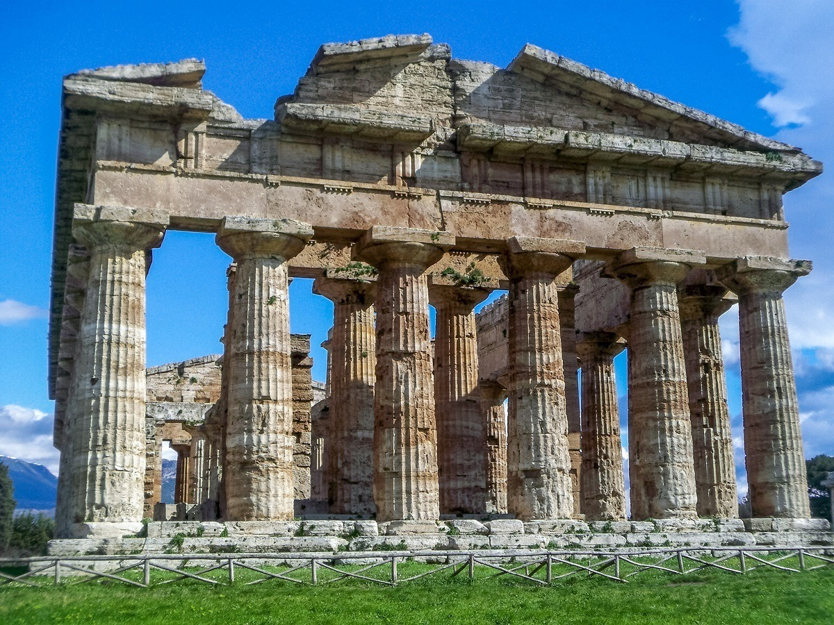 The Temple of Hera II, one of the most famous Greek temples in Italy