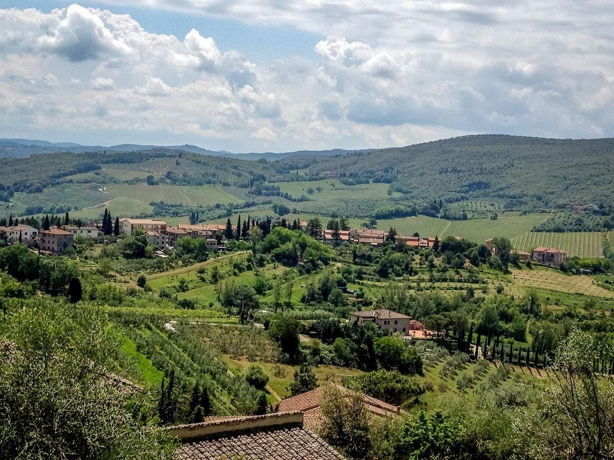 Views of Tuscany from city walls