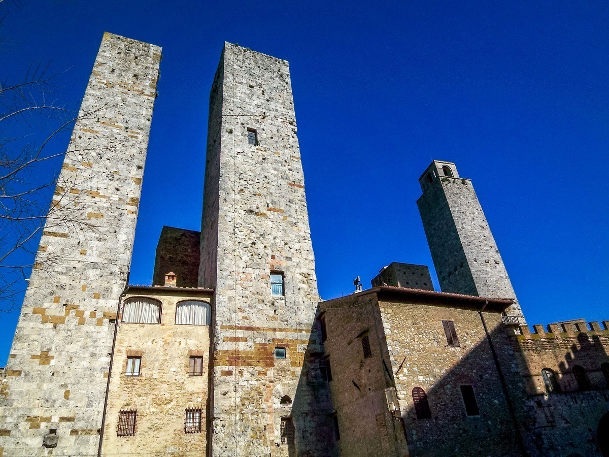 Three towers from the Renaissance period in this UNESCO World Heritage Site