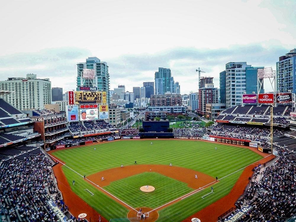 A Padres game at Petco Park