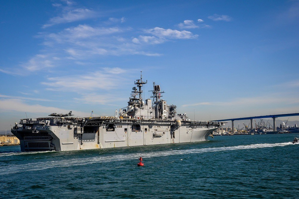 Passing an aircraft carrier on a Hornblower cruise in the harbor