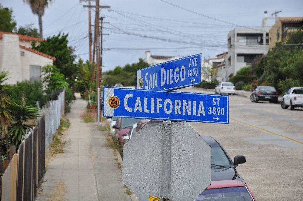 Intersection of San Diego Street and California Street