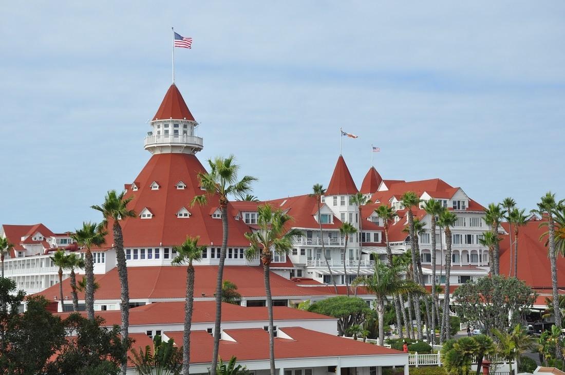 The iconic roof of the Hotel del Coronado