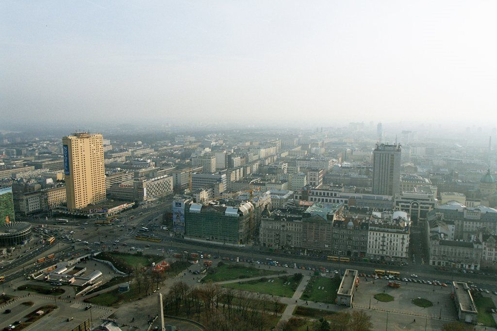 The view from the Viewing Terrace at PKiN in Warsaw