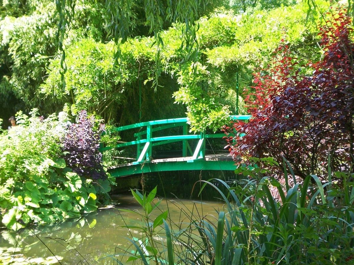 The Japanese Bridge in Monet's Gardens
