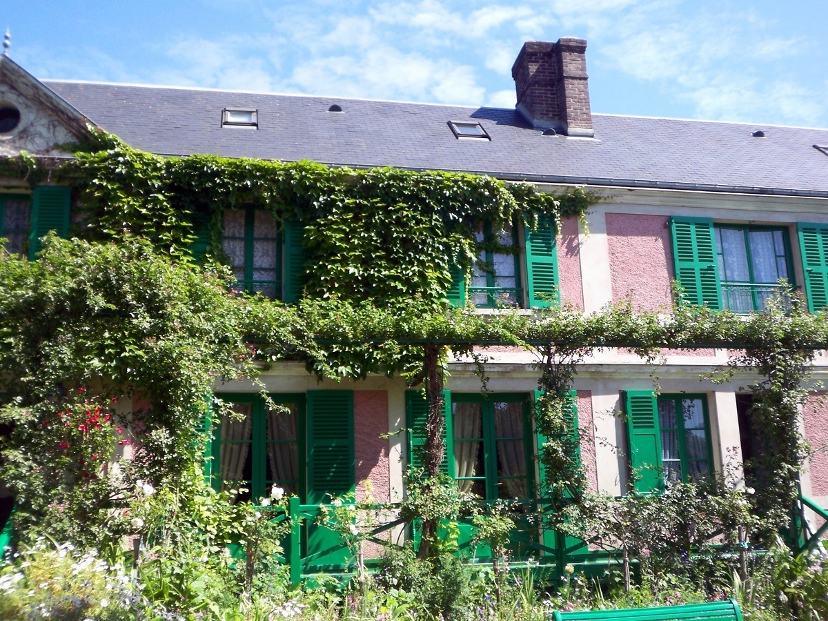 Monet's House in Giverny, France as viewed from the Clos Normand garden
