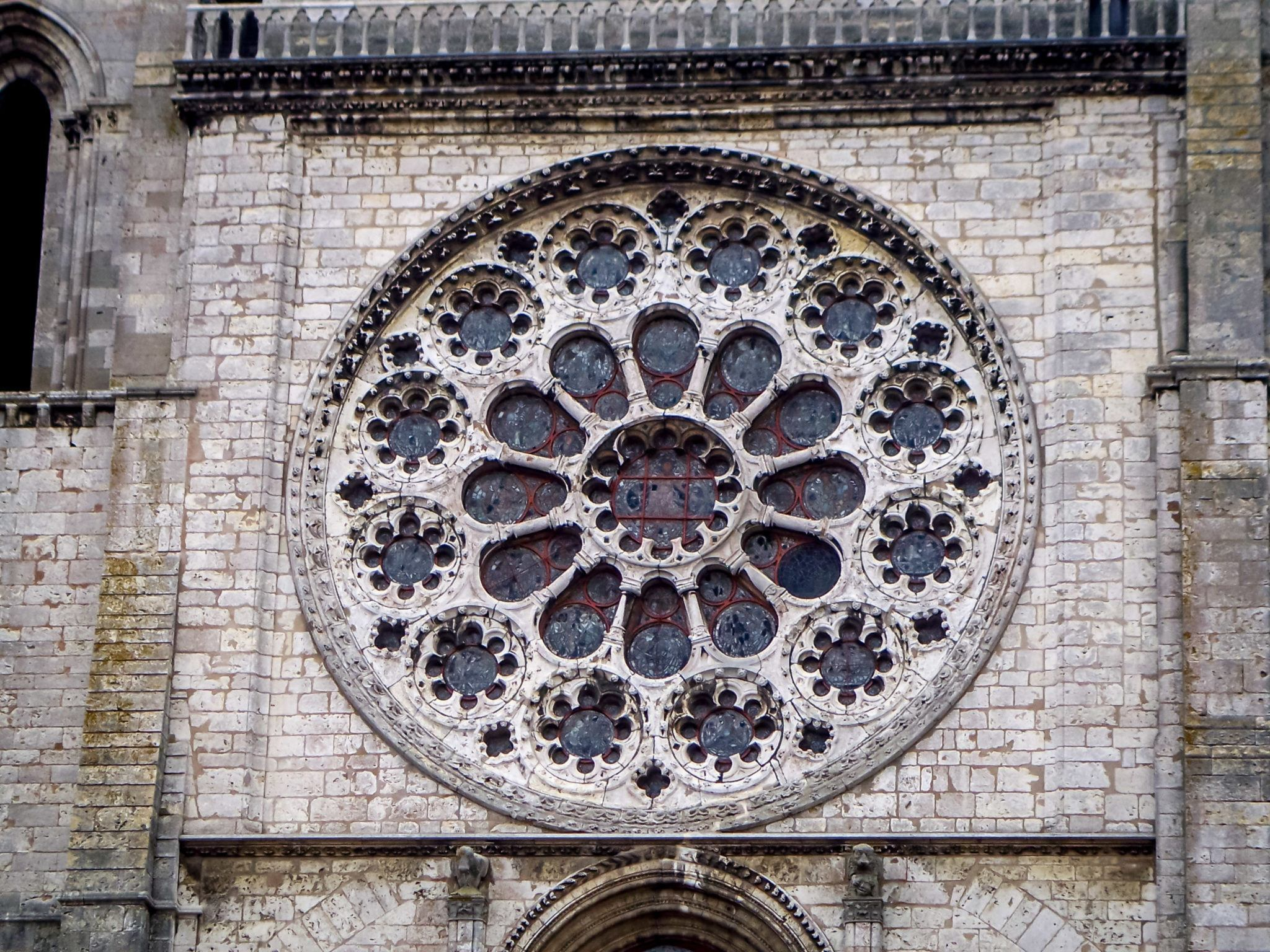 A stained glass window at Chartres Cathedral