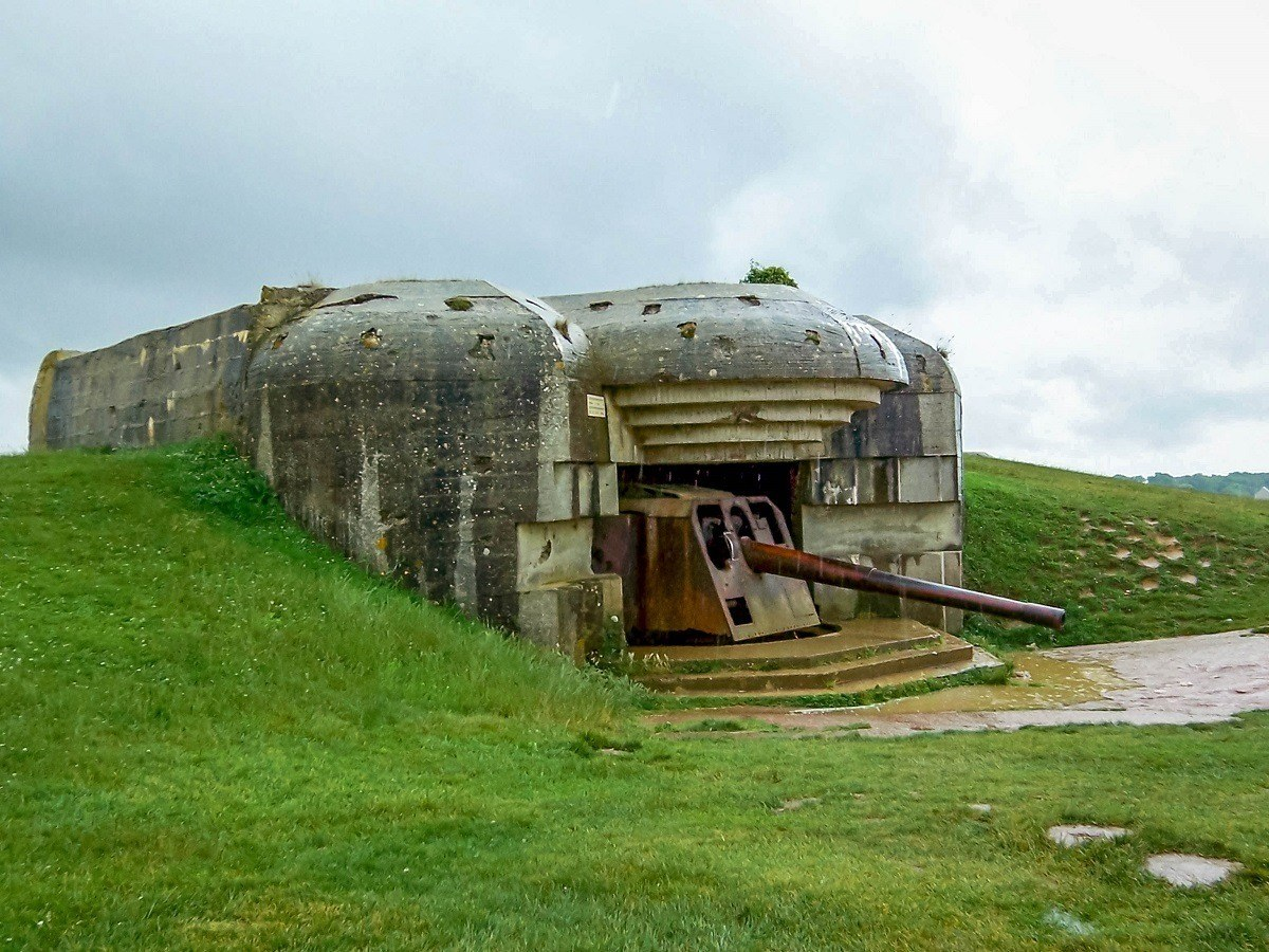 The Longues sur Mer gun battery in Normandy