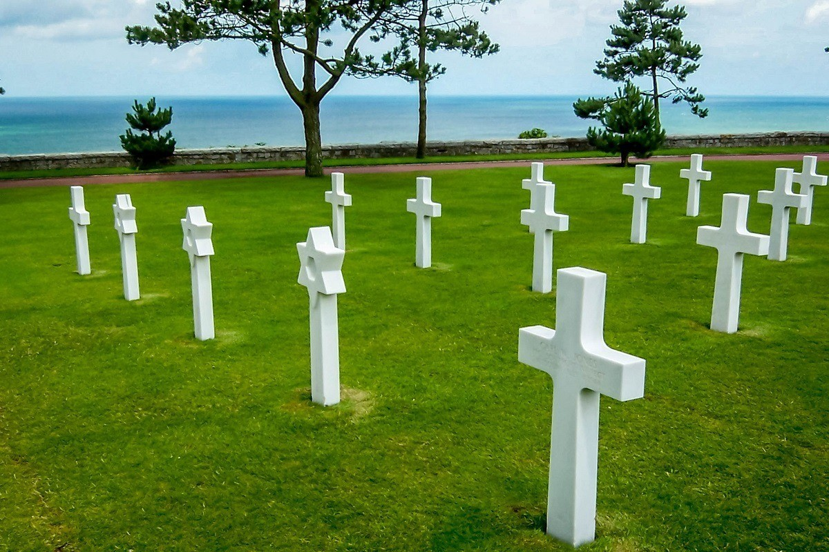 The American Cemetery in Normandy, France