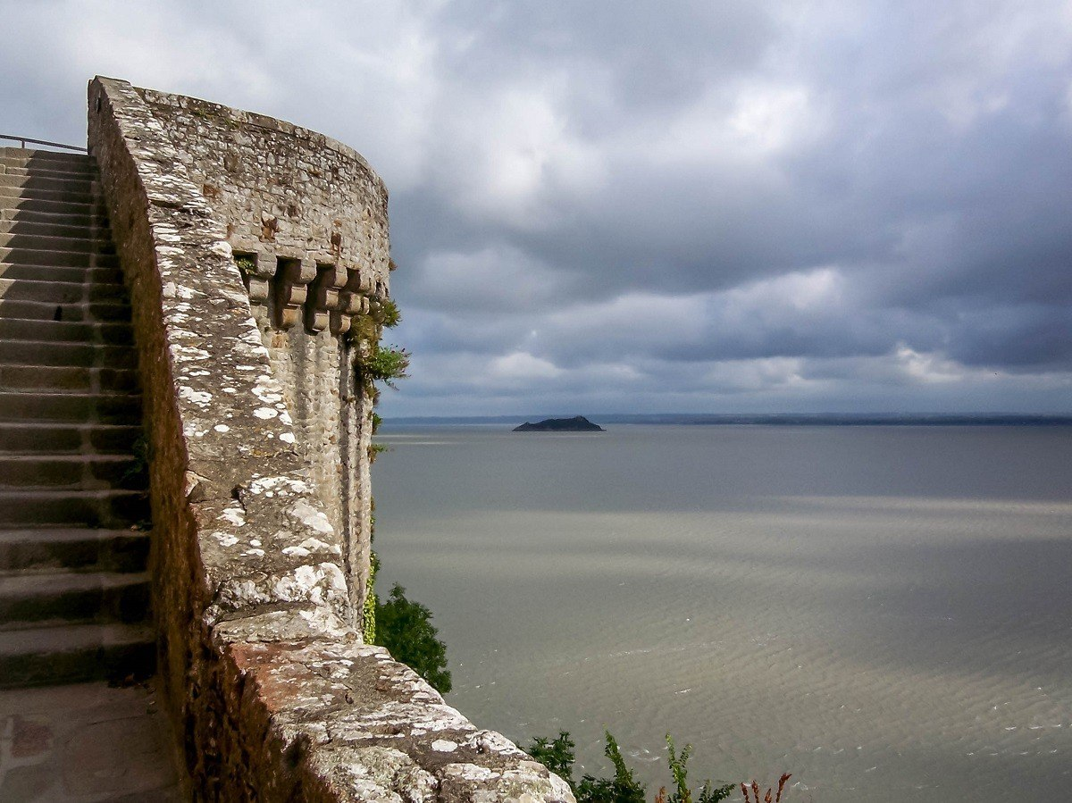 Views of the bay from the walls of the abbey