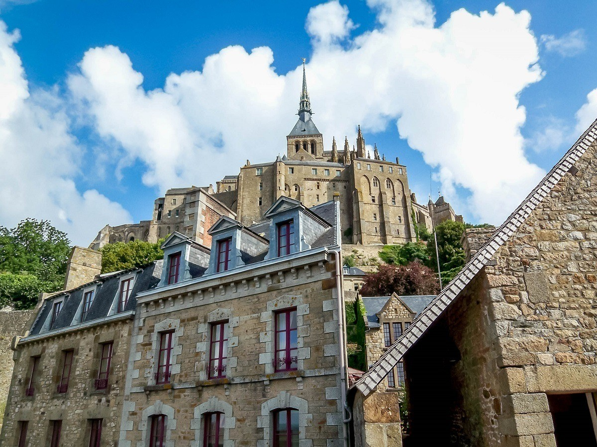 The Abbey above the town on Mont Saint-Michel