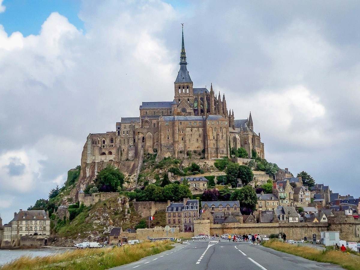 The view of Mont Saint-Michel from the causeway