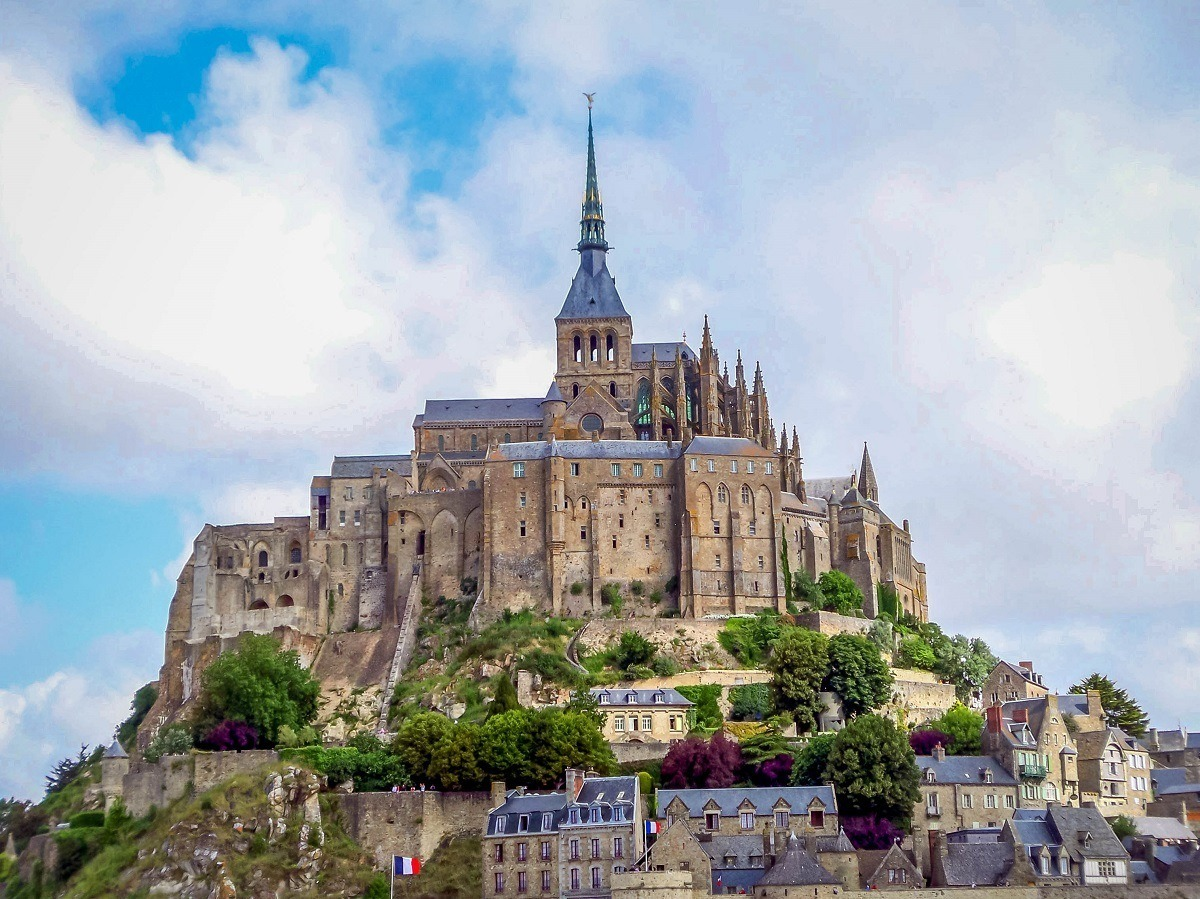 The island of Mont Saint-Michel in Normandy, France