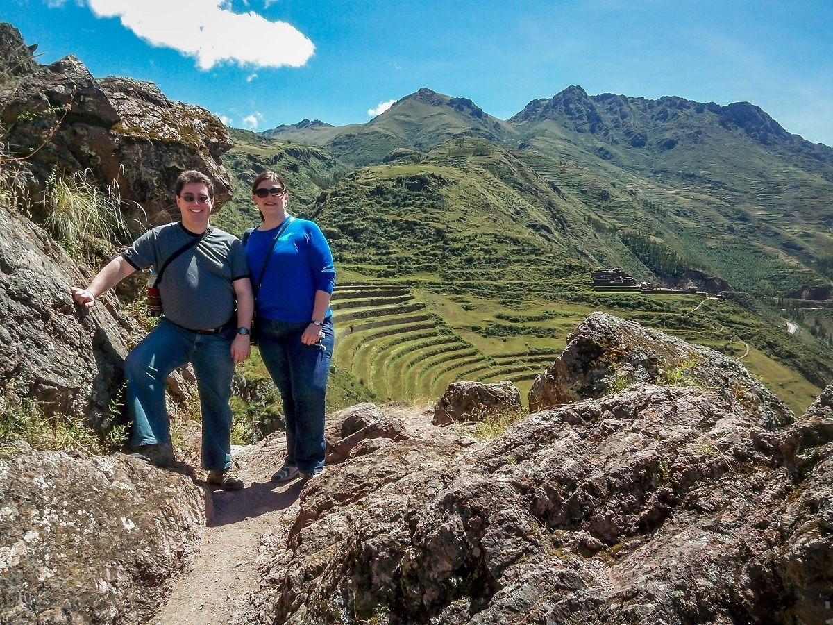 Lance and Laura hiking in the Sacred Valley at Pisac