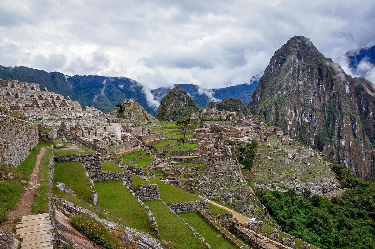 View of the entire Machu Picchu complex