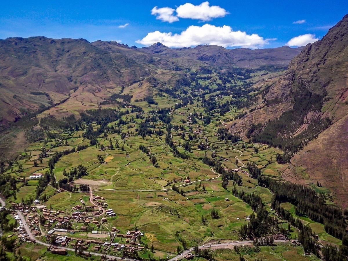 Looking down the Sacred Valley above Pisac
