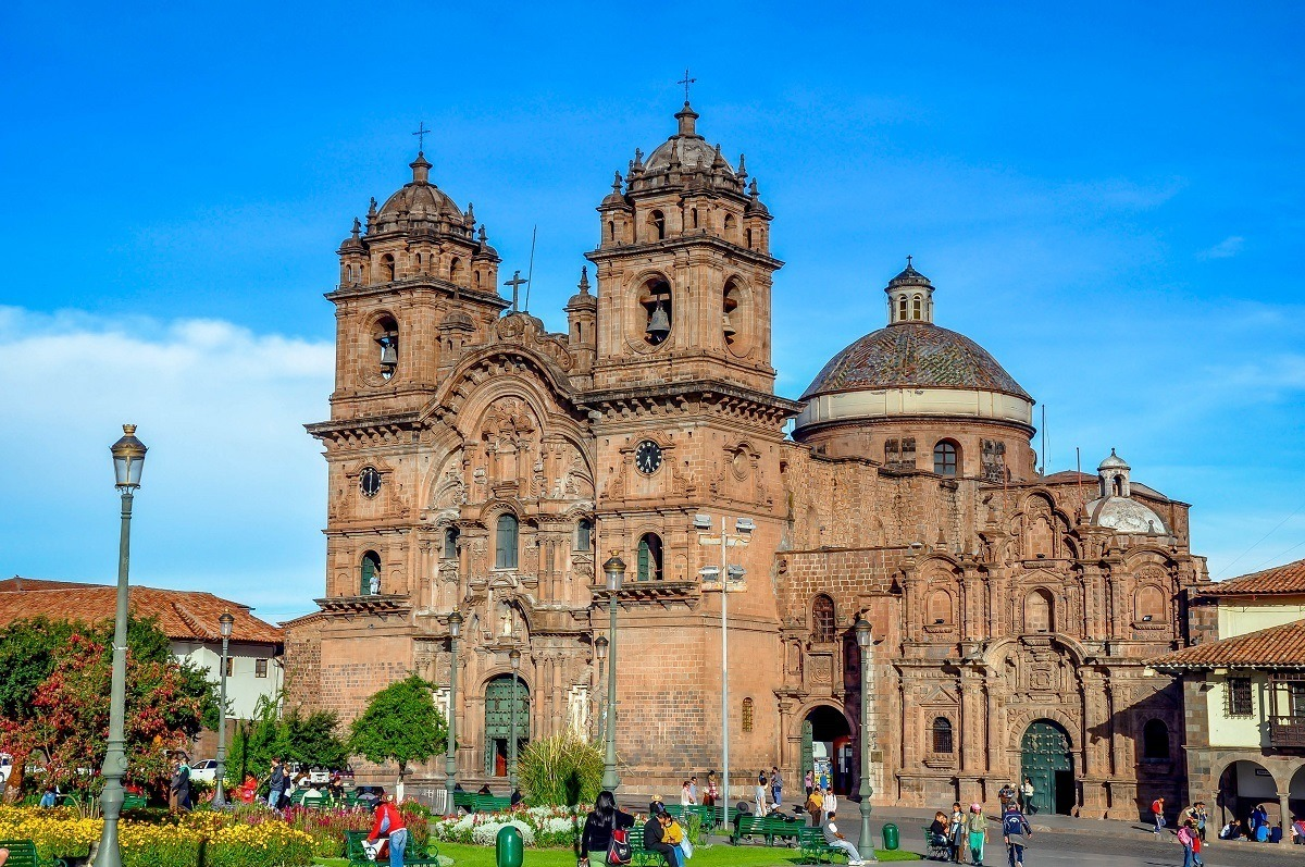 The Church of the Company of Jesus, right on the Plaza de Armas