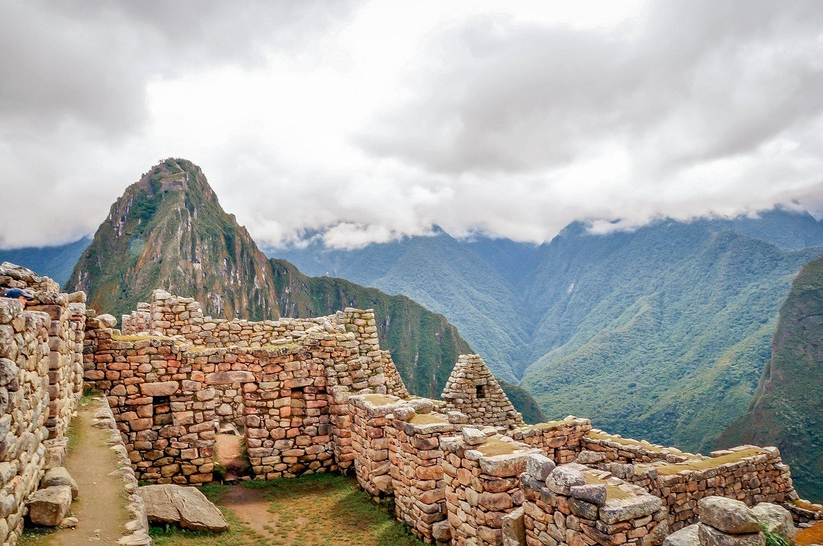Stone buildings at in Peru