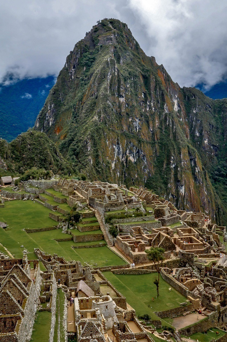Taking in the view overlooking Machu Picchu