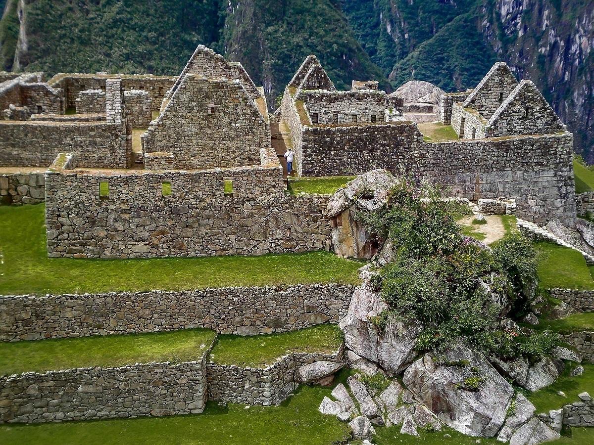 Ruins of buildings at Machu Picchu