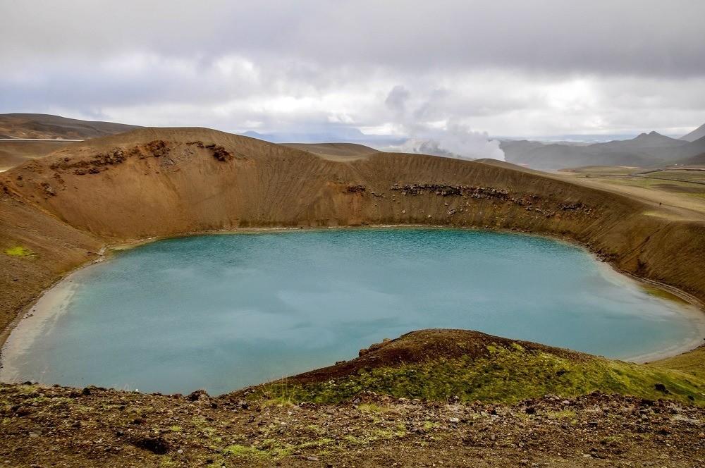 Lake in the Krafla caldera near Myvatn