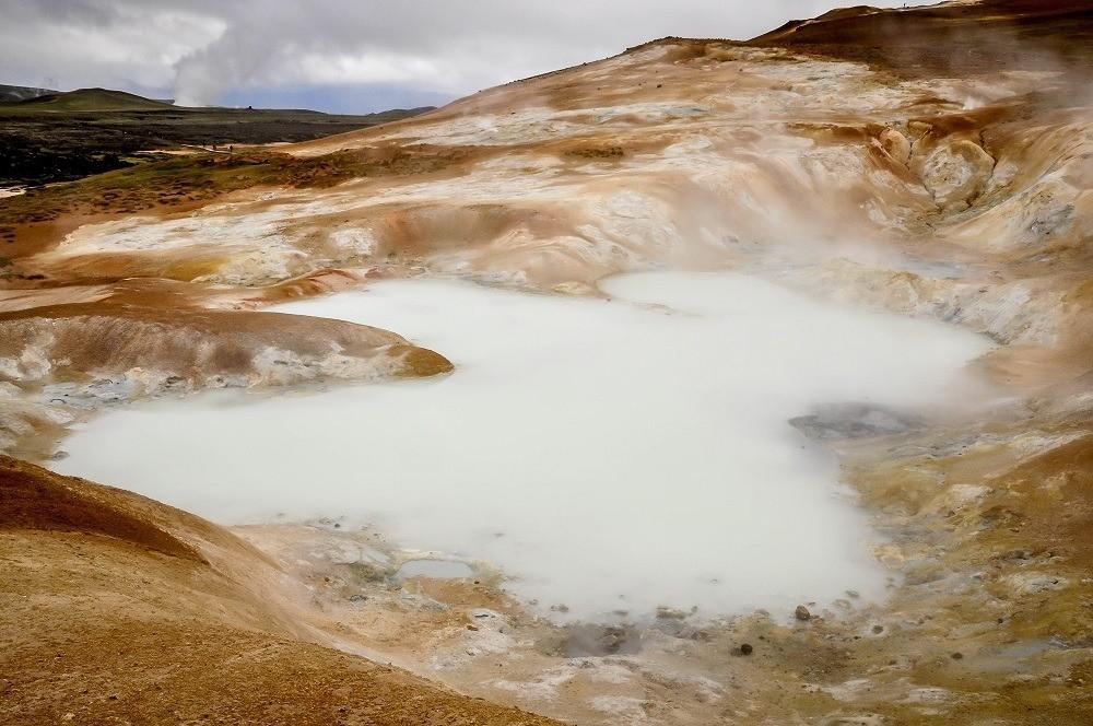 Geothermal pools at Krafla