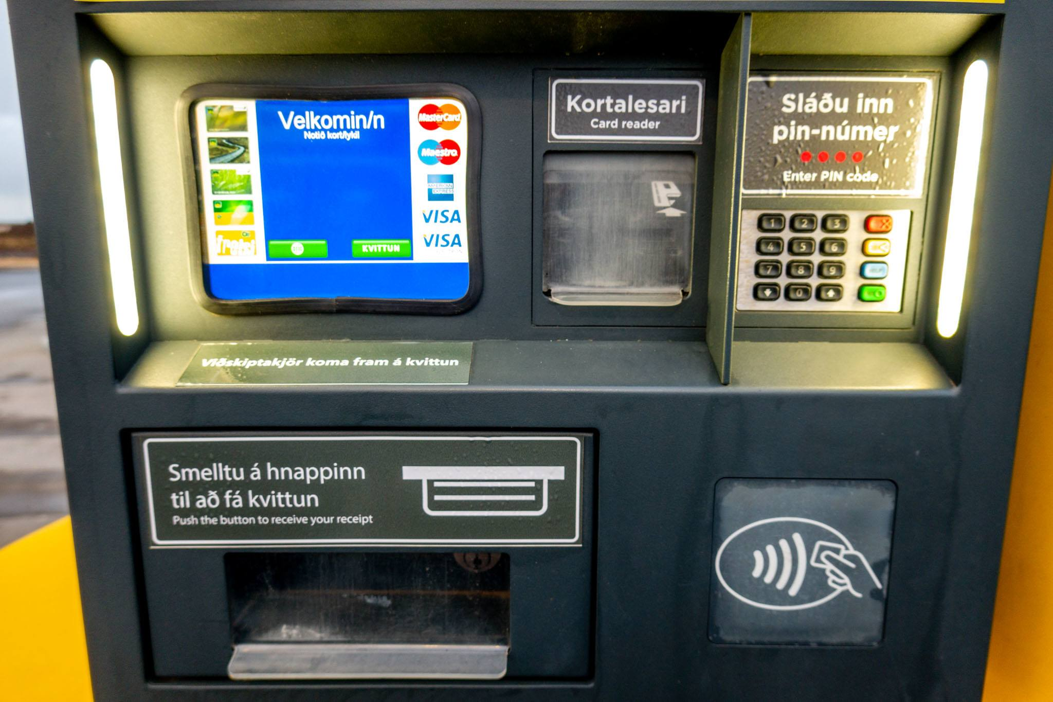 The credit card readers on the self-pay pumps