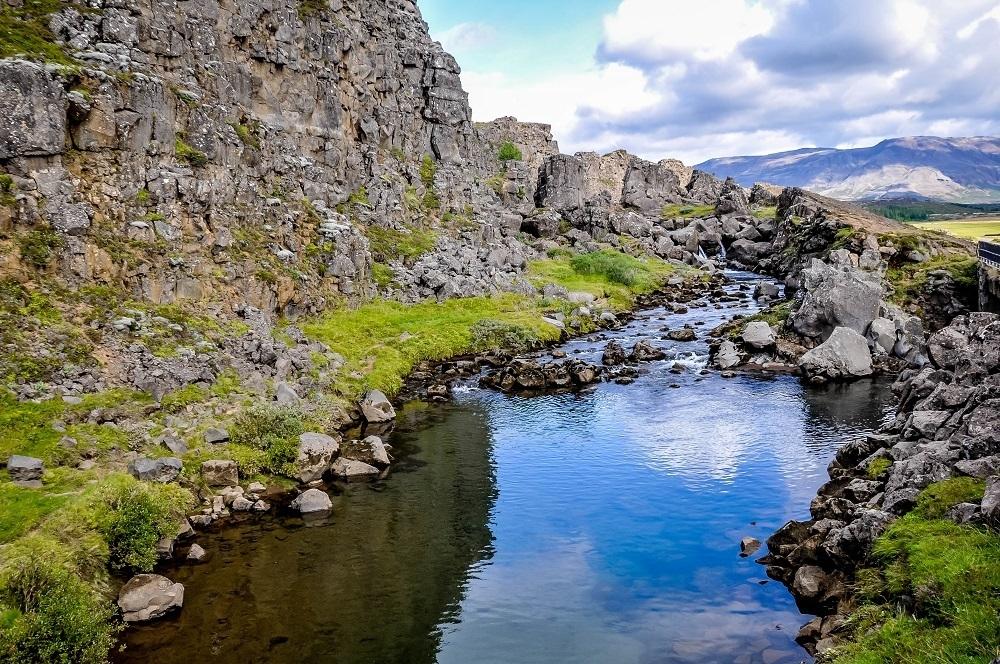 Stream in Thingvellir National Park