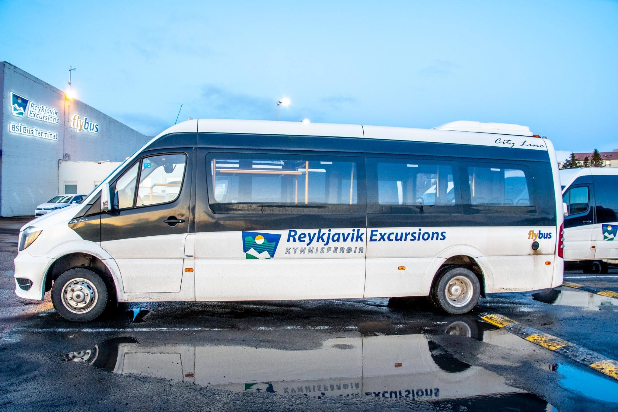 The Flybus+ pick-up service at the BSI Bus Terminal