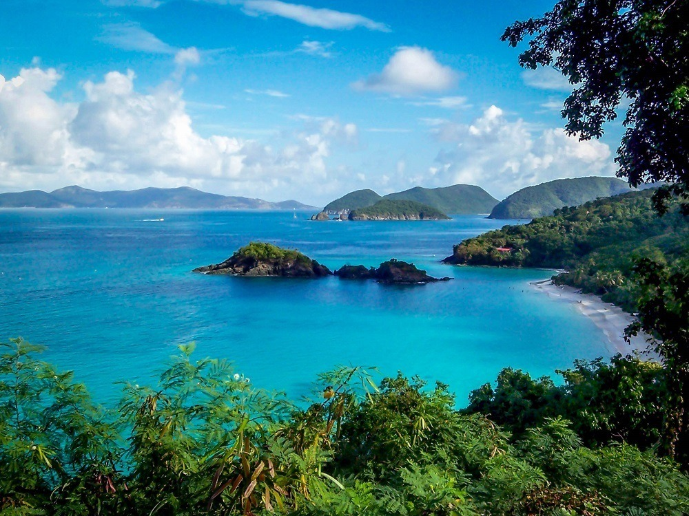 View of Trunk Bay St John from the overlook