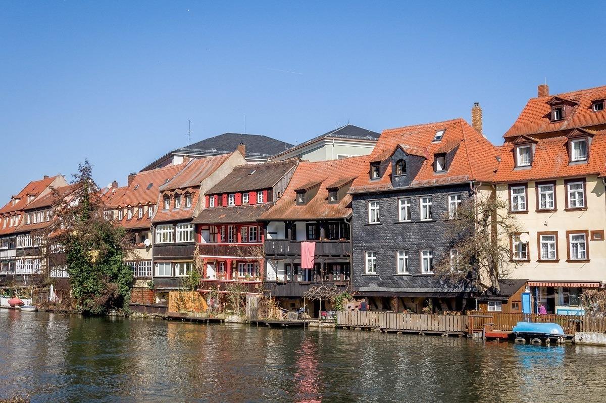 "The ""Little Venice"" neighborhood in Bamberg, Germany"