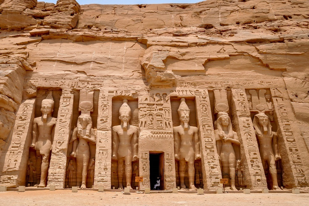 Front of the Temple of Nefertari