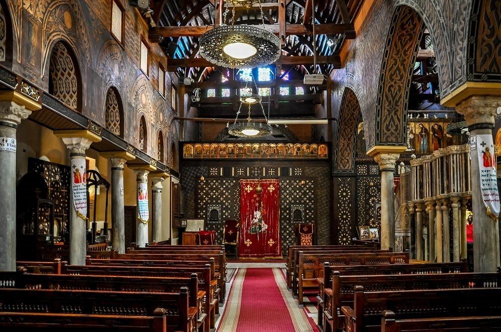 Interior of St. Sergius and Bacchus Church in Coptic Cairo
