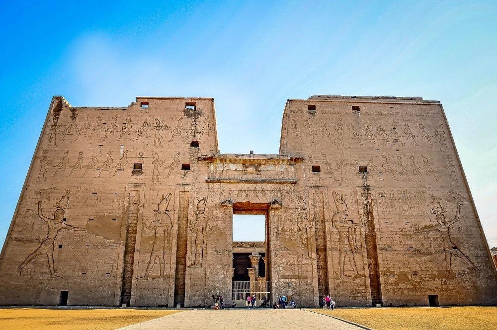 The exterior facade of the Edfu Temple