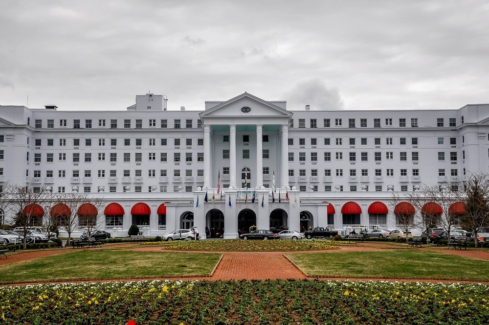 Exterior of the Greenbrier Hotel in West Virginia