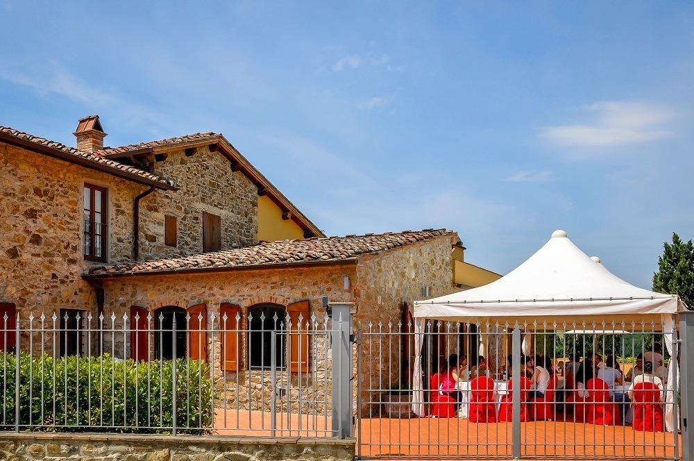 The Villa Caffagio during the Cantine Aperte events