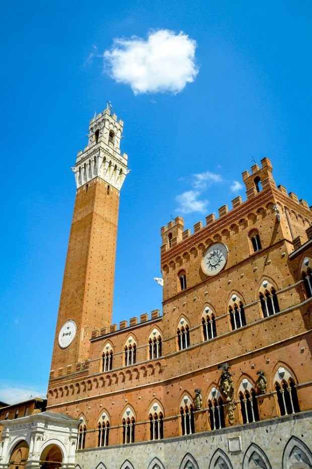 Siena's red brick town hall
