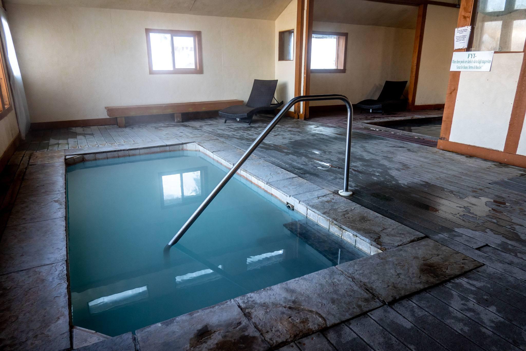 Indoor pool at the Hot Sulphur Springs Resort & Spa
