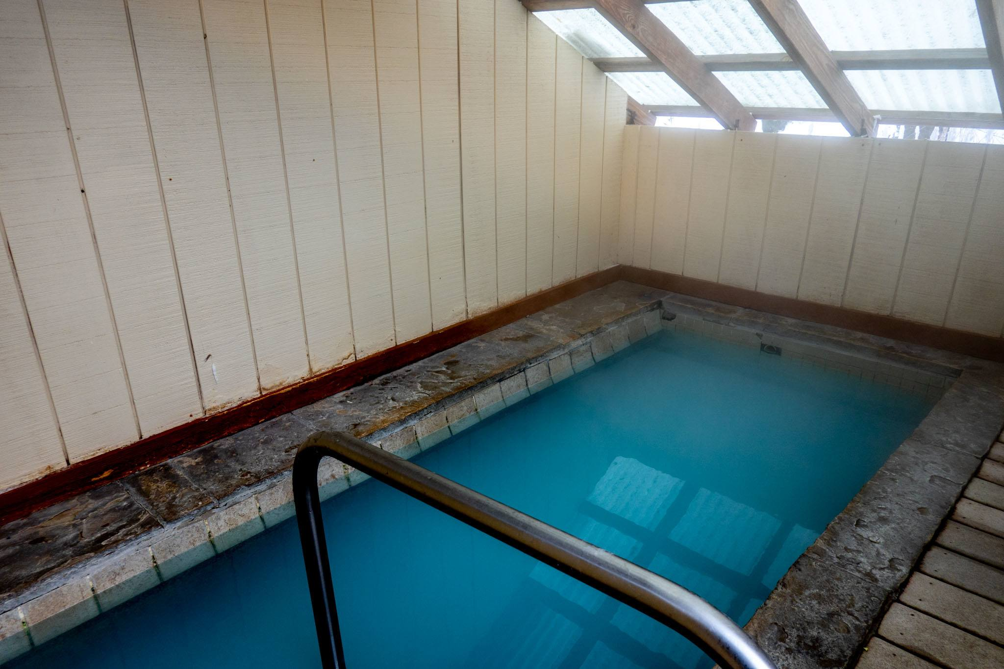 Private hot springs pool for two