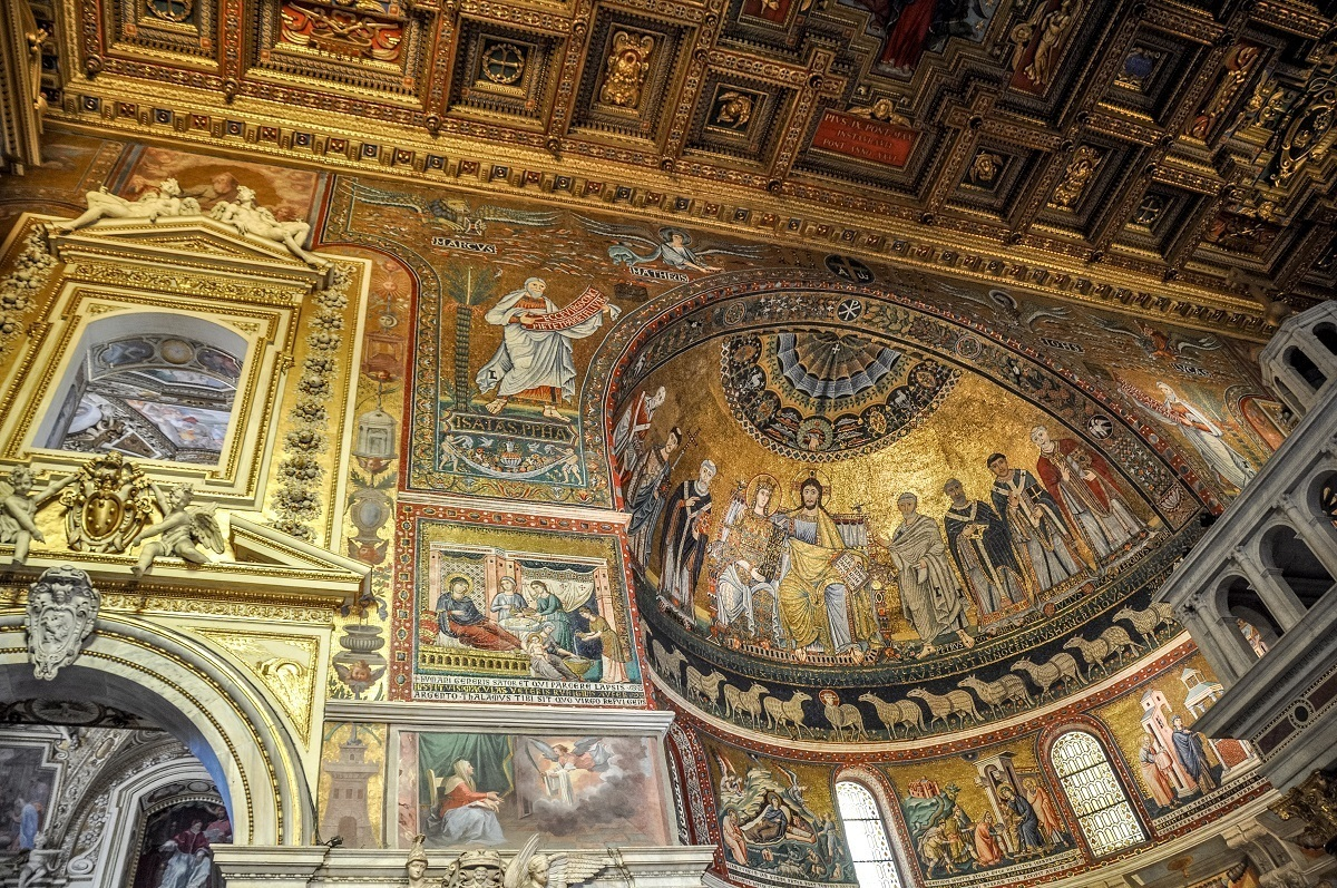 A golden church in Rome